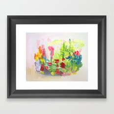 English Garden Framed Art Print