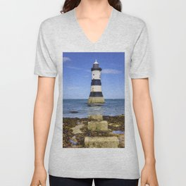 Penmon Lighthouse Unisex V-Neck