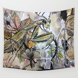 Peace, mantis Wall Tapestry