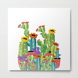 Cacti Love Metal Print