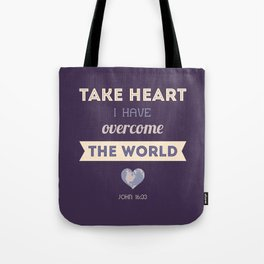I Have Overcome the World Tote Bag