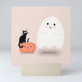 Friendly Little Ghost Mini Art Print