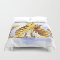 cats Duvet Covers featuring Cats by Anna Shell