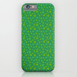 animal crossing grass pattern iPhone Case
