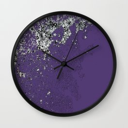 Purple Mold Wall Clock