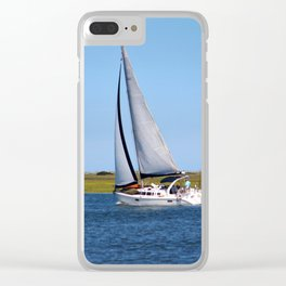 Sailing At Masonboro Island Clear iPhone Case