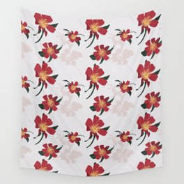 Happy Red Camellias. Wall Tapestry