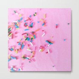 rainbow sprinkles Metal Print
