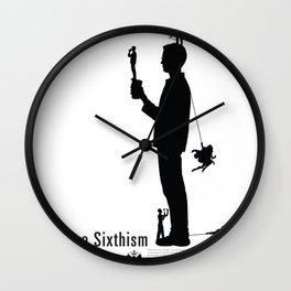 One Sixth Ism (Black Statue) Wall Clock