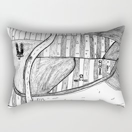 Farmland Drawing Rectangular Pillow