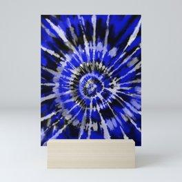 Dark Blue Tie Dye Mini Art Print