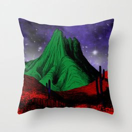 Painting in the Dark Throw Pillow