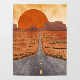 Monument Valley watercolor Poster