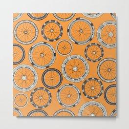 bike wheels amber Metal Print
