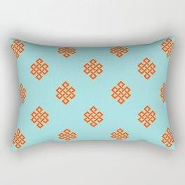Eternity knot pattern Rectangular Pillow