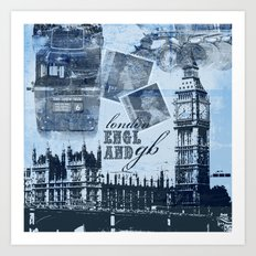 Anglophile Love Art Print