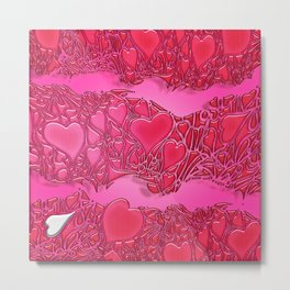 HEART WAVE HD by JC LOGAN 4 Simply Blessed Metal Print