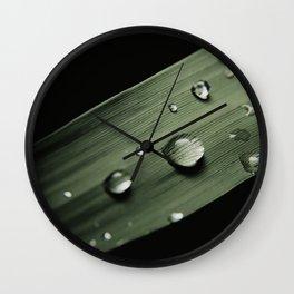 Water Drops. Macro Photography. Wall Clock