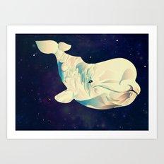 Space Beluga Art Print