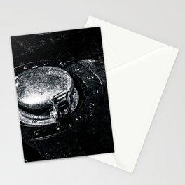 Gas Tank Locking Cap Black White Stationery Cards