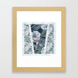 tropical run down Framed Art Print