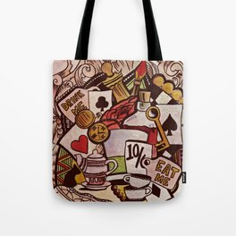The hurrier I go, the behinder I get Tote Bag