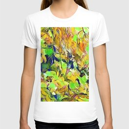Abstract leaves T-shirt