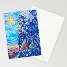 native american portrait 3 Stationery Cards