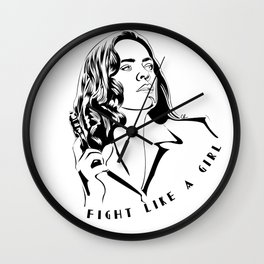 Peggy Carter Fight Like a Girl Wall Clock
