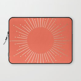 Simply Sunburst in Deep Coral Laptop Sleeve