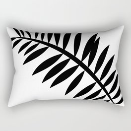 BLACK PALM LEAF Rectangular Pillow