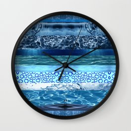 Water Moods Pattern Wall Clock