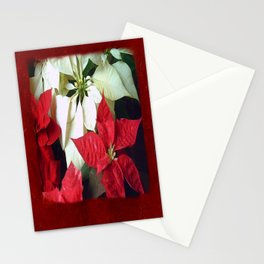 Mixed Color Poinsettias 2 Blank P5F0 Stationery Cards