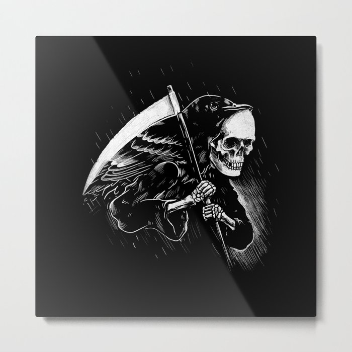 DEATH WILL HAVE HIS DAY Metal Print