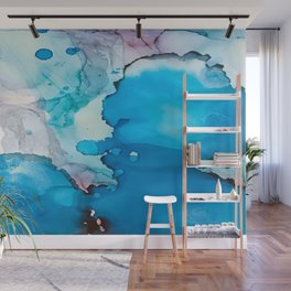 Drops of Blue Wall Mural