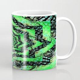 Folding Green Paper into Zigzags Coffee Mug