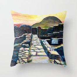 Delos Island, Greece Throw Pillow