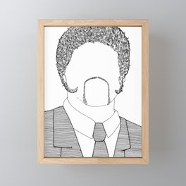 Winston Wolf - Pulp Fiction Framed Mini Art Print