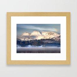 Langdale dawn Framed Art Print