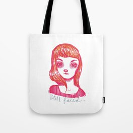 Doll Faced Tote Bag