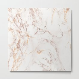 gold and brown marble Metal Print