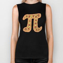 Pizza Pi Funny Visual Math Pun - Mathematics Humor Gift Biker Tank