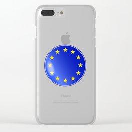 EU Button Clear iPhone Case