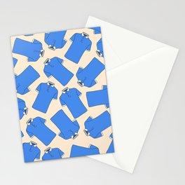 Shopping Blue Poloshirts Stationery Cards