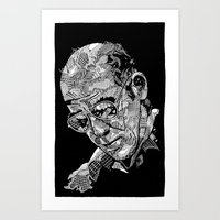 hunter s thompson Art Prints featuring Hunter S Thompson by Andy Christofi