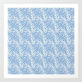Stripe_blie Art Print