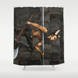 Pole Creatures: Minotaur Shower Curtain