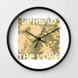 Spread the Love Wall Clock