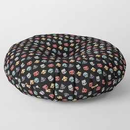 Skull Shapes Floor Pillow
