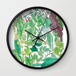 Edible Garden Wall Clock